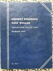 Liberty Standing Half Dollar Collection 1937 To '47 Official Whitman Coin Folder