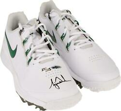 Tiger Woods Signed White And Green Tw 14 Golf Shoes - L.e. 25 - Upper Deck