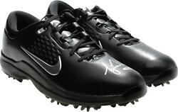 Tiger Woods Autographed Black Nike Air Zoom Tw71 Golf Shoes Upper Deck
