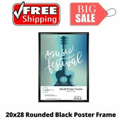 20x28 Rounded Black Poster Frame Home Wall Decor Picture Frame Modern Style