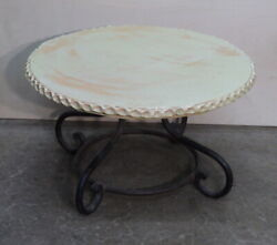 Vintage French Signed Custom Made Iron And Terracotta Clay Coffee Table St. Jean D