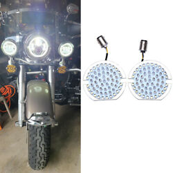 1157 Flat Turn Signals Running Led Light Blubs Fit For Harley Road King Classic