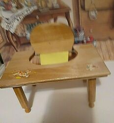 Strombecker Wood Baby Doll Feeding Table For Crib Crowd Ginny + Ginnette + More