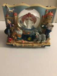 Disney Little Mermaid Snow Globe Musical Plays Under The Sea. Two Sided.