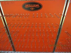 Very Rare Lot Of 7 Williams Tool Wrench Hardware Display Advertising Boards