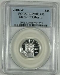 2001-w 25 American Platinum Eagle Proof Pf 69 Dcam Certified