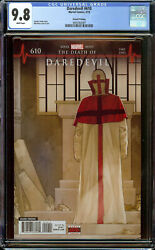 Daredevil 610 2nd Print Cgc 9.8 White Pages - 1st Appearance/cover Of Vigil