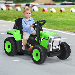 12v Ride On Tractor With 3-gear-shift Ground Loader For Kids 3+ Years Old New