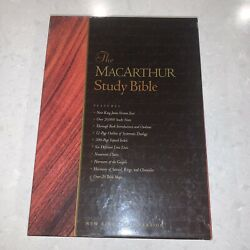 The Macarthur Study Bible 1997, Bonded Black Leather New In Box