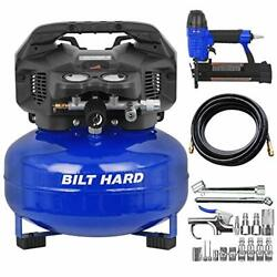 Air Compressor Combo Kit With Nail Gun, 6 Gallon, 150 Psi 1.5hp, Oil Free With
