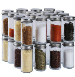 34 Pcs Small Glass Spice Jars4 Oz,ball Spice Containers Bottles Shaker Lids