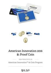2018 American Innovation 1 Rev Prf Coin Lot Of 50 Fdoi In Unopened Mint Box