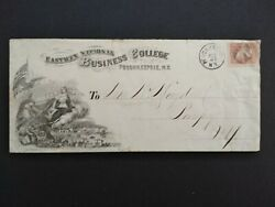 Ny Poughkeepsie 1860s 65 Eastman Business College Legal Size Advertising Cover