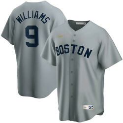 New Mlb Boston Red Sox Ted Williams Nike Cooperstown Road Replica Team Jersey 9