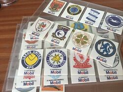 Full Set Of 30 1983 Mobil Silk Football Badges In Sleeves Superb Condition