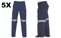 5x Lightweight Cotton Cargo Pants With 3m R/tape Brand New Clothes Wear 3326 Dnc