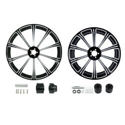 21 Front 18and039and039 Rear Wheel Rim + Disc Hub Fit For Harley Road King Non Abs 08-21