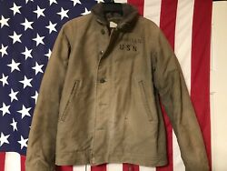 Authentic Us Navy Wwii  N-1 Deck Jacket Usn Size 40 Chest