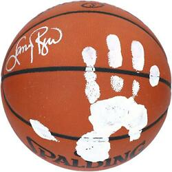 Larry Bird Celtics Signed Official Game Basketball With White Acrylic Hand Print