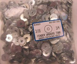 10 Oversized Fender Washers 3/16 X 3/4 Od - Zinc Plated 1000 Pieces