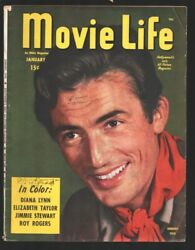 Movie Life- 1/1946-ideal-gregory Peck Cover.-june Allyson-roy Rogers-robert S...