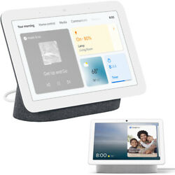 Google Nest Hub Display With Assistant Charcoal 2nd Gen + Nest Hub Max -chalk