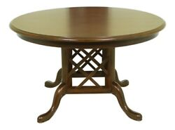 52188ec Stickley Round Cherry Dining Room Extension Table
