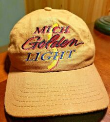 Michelob Golden Light Cap Hat One Size Fits Most Brown 2173