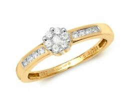 Diamond Ring Shoulders Set 18ct White Gold 0.33ct Sizes L-n Contact Us Before