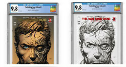 Walking Dead Deluxe 1 / 2nd Print/ Cgc 9.8 / Red And Gold Foil Set + 3 Blind Bags