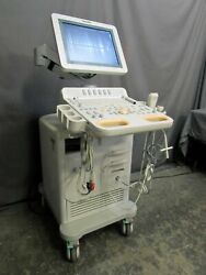 Philips Hd7xe Diagnostic Ultrasound System With 2 Transducers And Doppler Probe