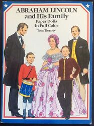 Abraham Lincoln And His Family Paper Doll Book, 1989, 16 Pages,uncut,tom Tierney