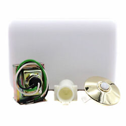 Royal Pacific 8912dc Doorbell Chime Kit, Xfmr, Chime, Lighted Stucco Button
