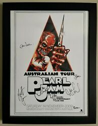 Pearl Jam Concert Poster Signed By Entire Band 2009 Australian Tour Eddie Vedder