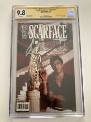 Scarface Scarred For Life 1 Photo Variant Cgc 9.8 Ss Signed By Al Pacino