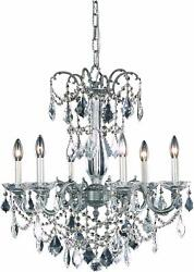 Asfour Crystal Chandeliers Pewter Quality Dining Living Room Kitchen 6-light 26