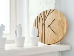 New Oak Wood Wall Home Made Antique Clock Paulis For Hotel Home Decoration