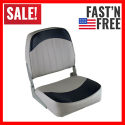 High Quality Low Back Boat Seat Grey / Navy Aluminum Hinges And Injection Molded