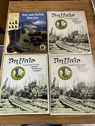 Buffalo Loggers Vintage Cardboard Signs Boot Ads Store Displays X4
