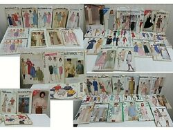 Huge Lot X51 Vintage Sewing Patterns Butterick Nightgowns Dress Jacket Top Skirt