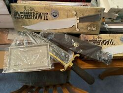 1 New Gil Hibben Old West Bowie Damascus Gh5013d