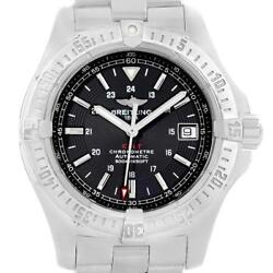 Breitling Colt 41mm Black Dial Steel Mens Watch A17380 Box Papers