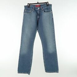 Levi's 527 Low Rise Boot Jeans Mens 32x32 Blue Faded Denim Made In Usa
