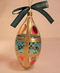 Waterford Holiday Heirlooms Coleen Egg Christmas Ornament Mint 1998 Made Italy