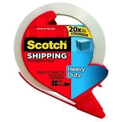 Scotch Heavy Duty Shipping Packaging Tape With Dispenser 1 Ea Pack Of 8
