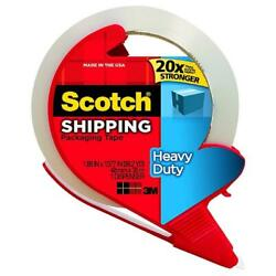 Scotch Heavy Duty Shipping Packaging Tape With Dispenser 1 Ea Pack Of 7
