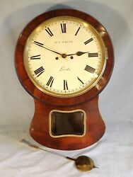 Stunning Rosewood Double Fusee Drop Dial Wall Clock C1870.