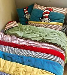 Pottery Barn Kids Cat In The Hat Twin Bedding