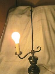 Vintage Antique Brass Student Lamp Mcm Collectible Lighting.