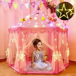 Princess Tent For Girls With Large Star Lights Kids Play Tents Toys For Toddl...